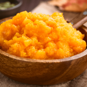 Pure pumpkin puree is high in fiber and contains lots of moisture, so it's a great home remedy for dogs with constipation.